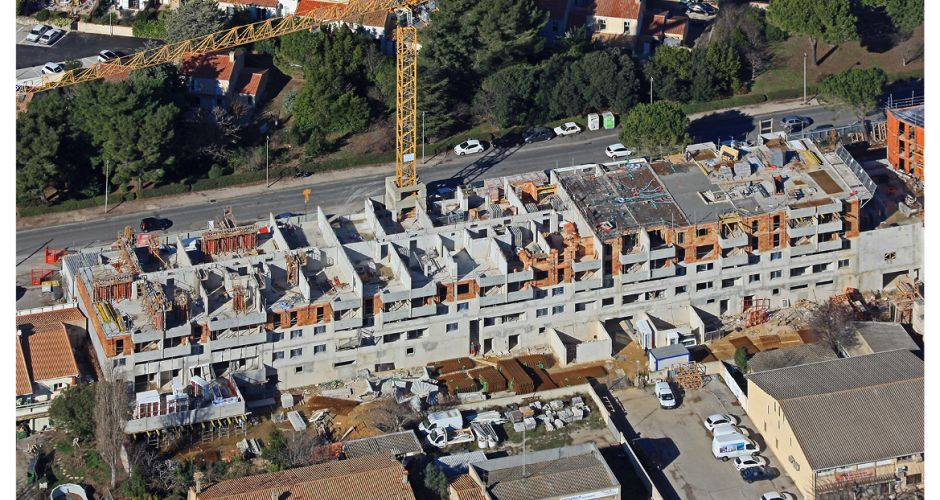 Forum/giraud/montpellier/gros oeuvre/logements/commerces